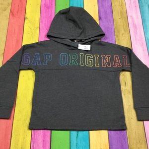Gap Girls XS 4-5 Gray Rainbow Sweatshirt
